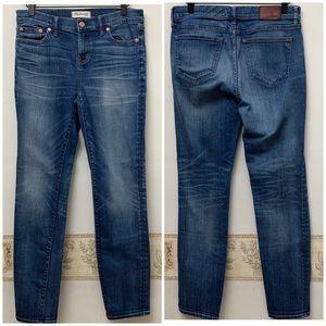 Madewell Alley Straight Leg Medium Wash Jeans